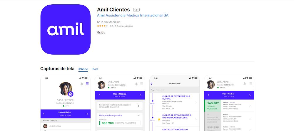 aplicativo amil clientes